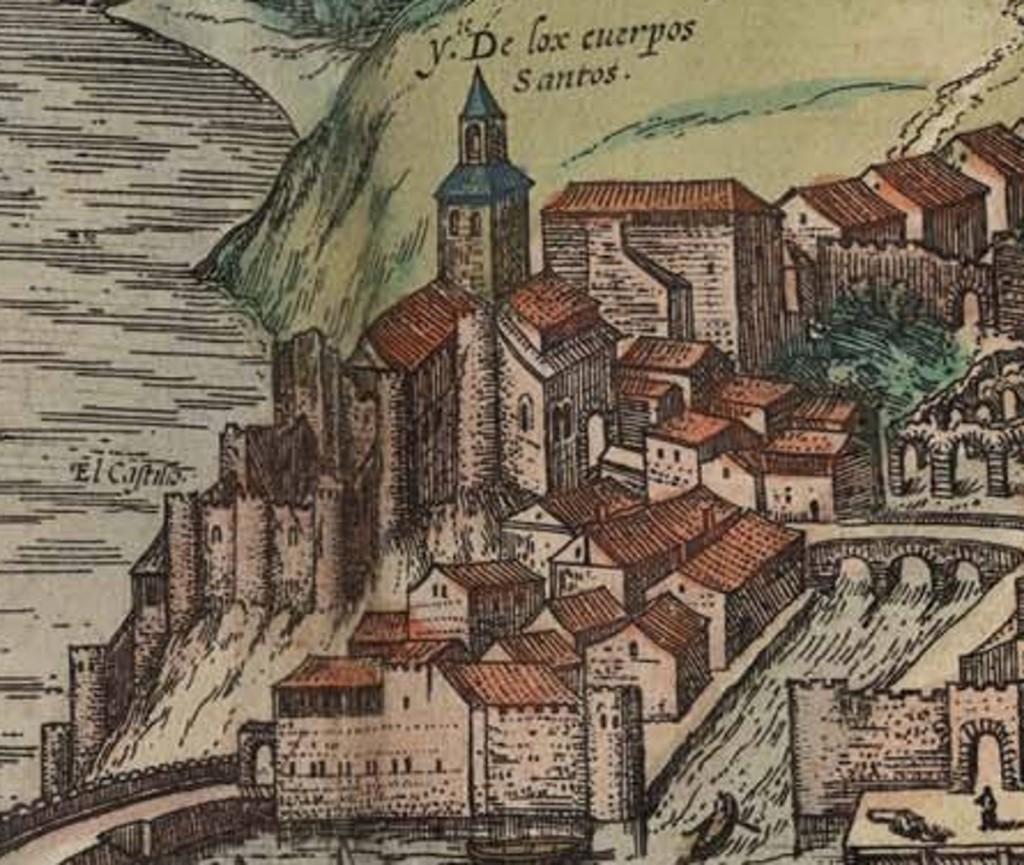 Detalle de Somorrostro. 'Civitates Orbis Terrarum' editado, George Braun, 1575.