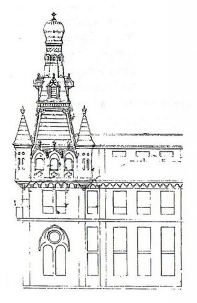 Diseño para la torre del Palacio episcopal, Joaquín Rucoba, circa 1900.