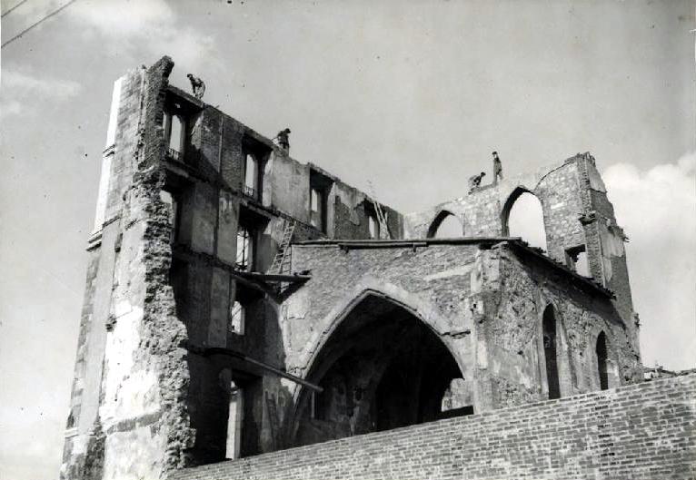Ruinas del Palacio Episcopal, circa 1941