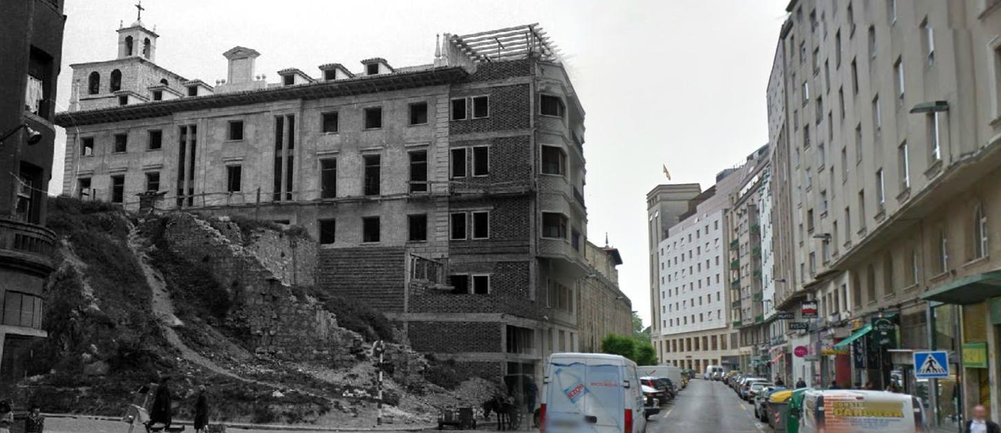 Palacio Episcopal desde la Calle Cádiz, 1962/2012