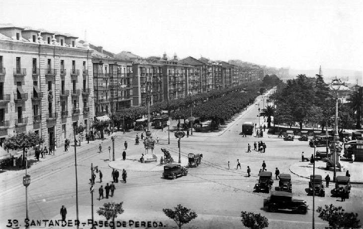 Aduana y Paseo de Pereda, 1930