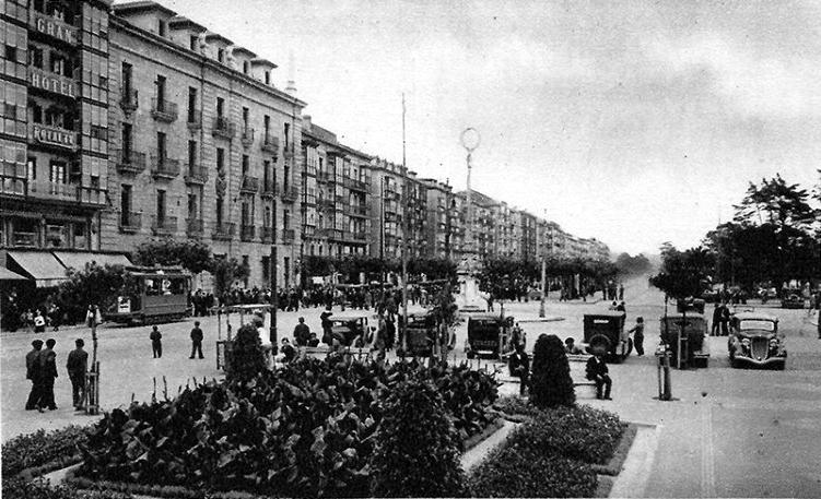 Aduana y Paseo de Pereda, 1934