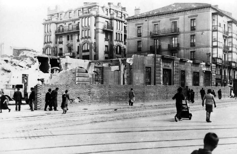 Derribo del edificio de la Aduana, 1943
