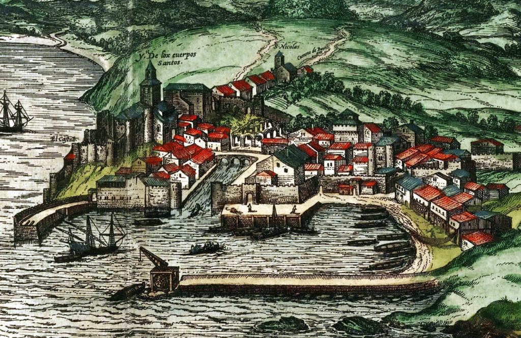 Grabado de Santander, ca. 1570