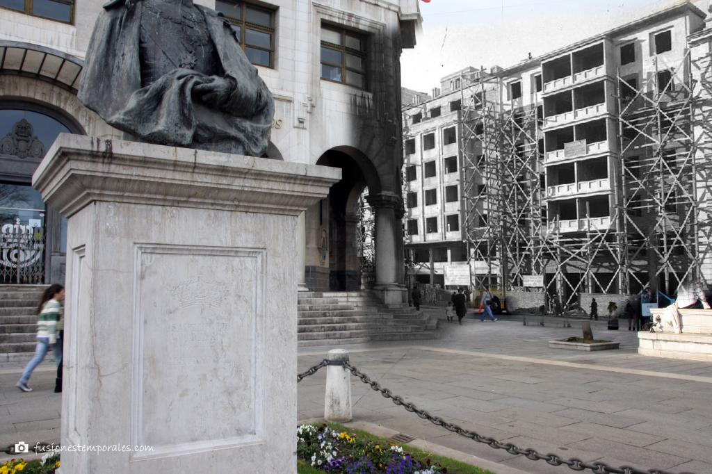 Edificio de Correos y Calvo Sotelo, ca. 1944/2012