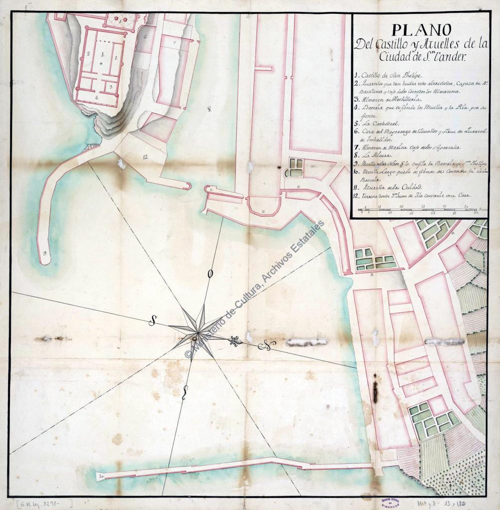 Plano de Santander, ca. 1760