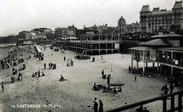 Primera playa del Sardinero, ca. 1932