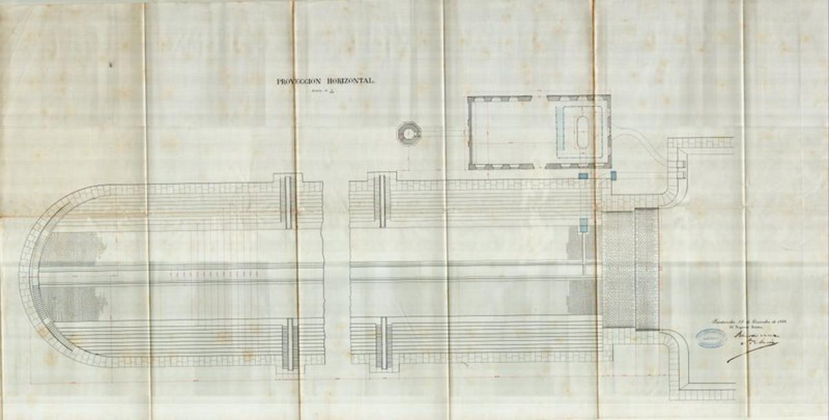 Dique de Gamazo, proyección horizontal, Puerto de Santander