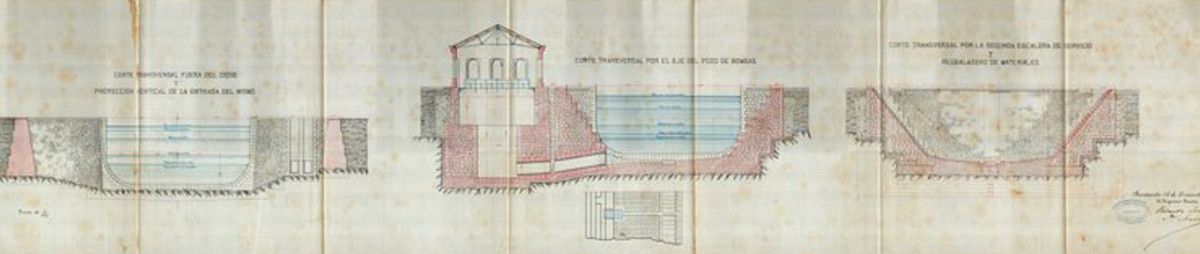 Dique de Gamazo, corte transversal, Puerto de Santander