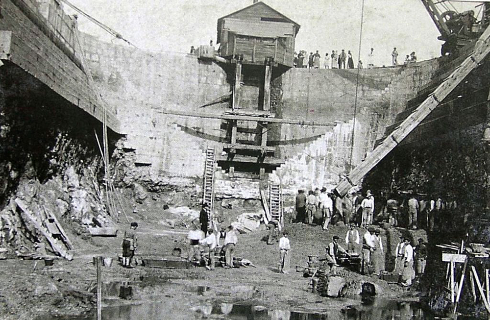 Construcción Dique de Gamazo, ca. 1890