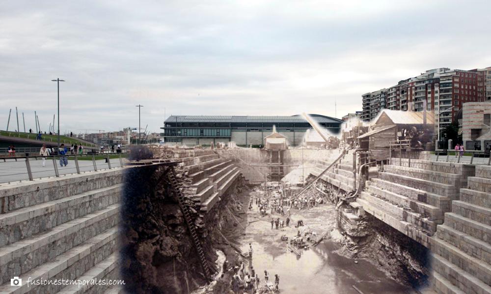 Construcción Dique de Gamazo, ca. 1890-2015. Puerto de Santander