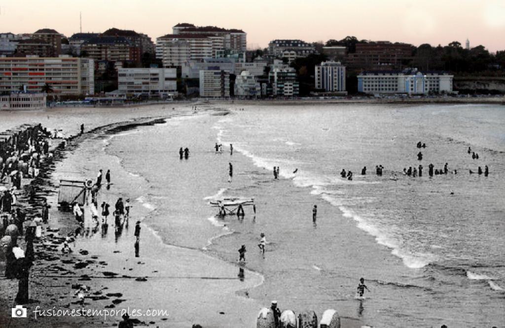 Segunda playa del Sardinero. Dámaso Fuertes, CDIS. Ca. 1912/2012.