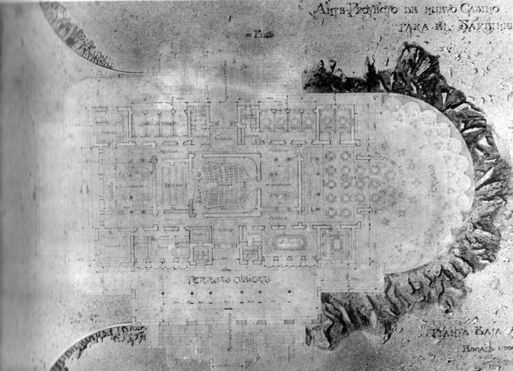 Javier González Riancho. Anteproyecto de casino en Piquío, 1911.