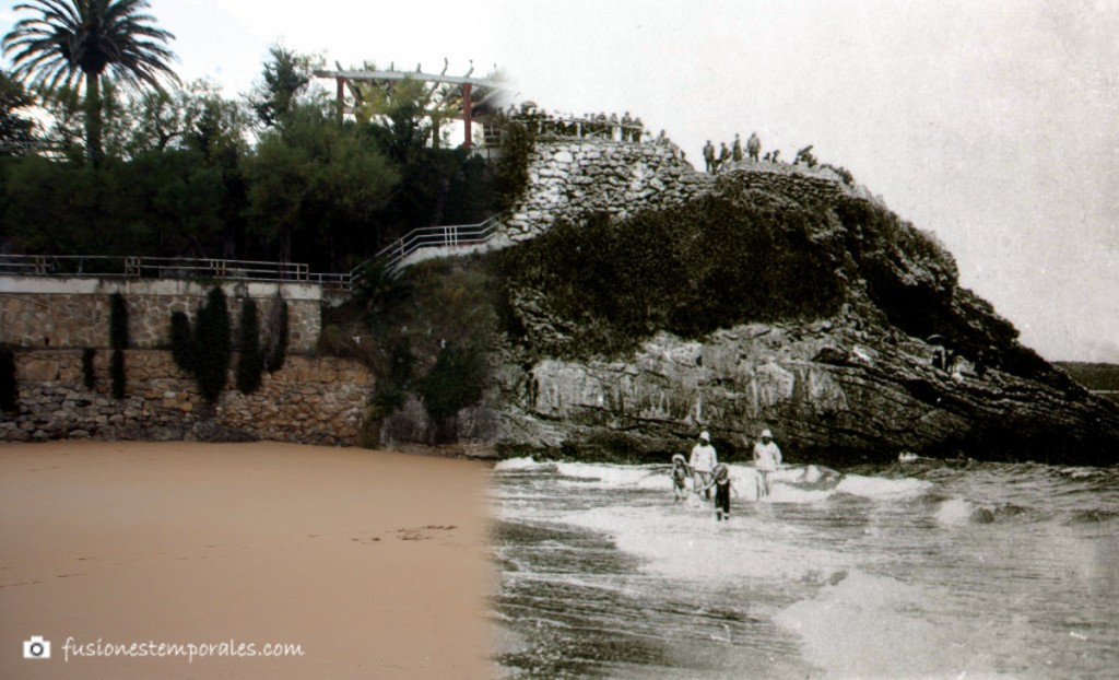 Familia Real en la 1ª playa del Sardinero. 1914/2014. Isidro Duomarco, Pablo ¿?. CDIS.