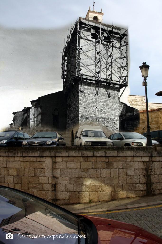 """Trabajos de """"restauración"""" de la Catedral de Santander. Ca. 1946, CDIS."""