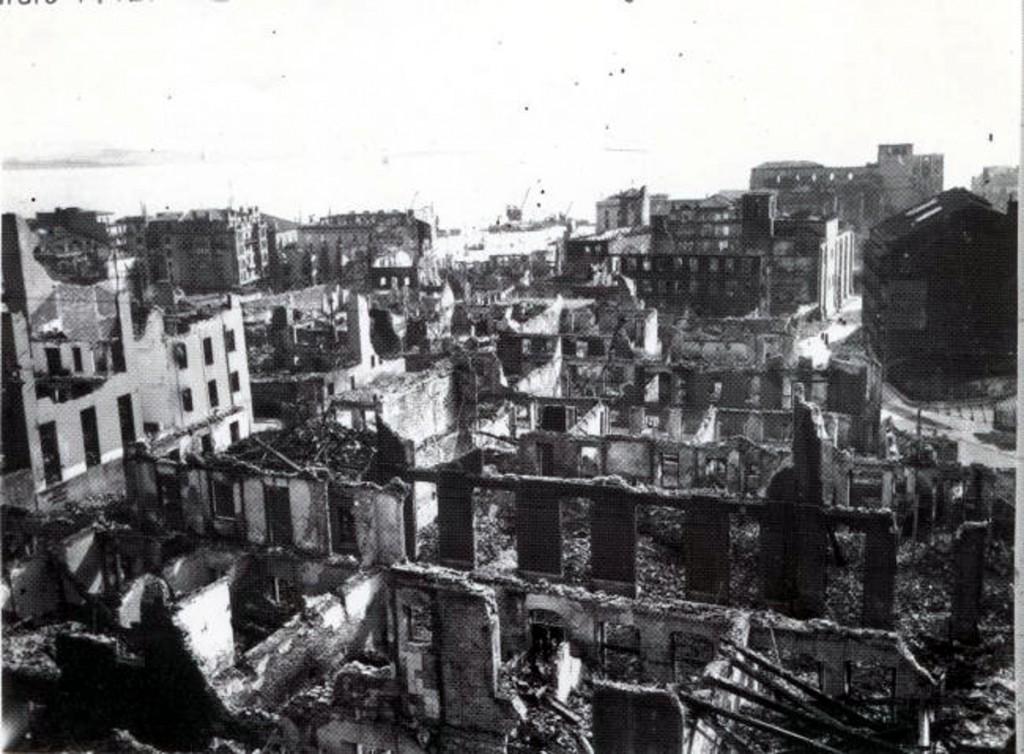 VIsta del centro de la ciudad desde el Instituto Santa Clara. 1941, DM.