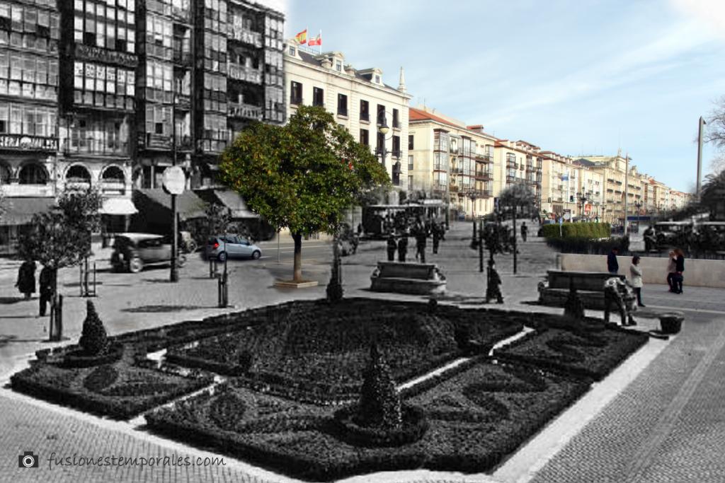 Calle de la Rivera (hoy de Calvo Sotelo). Ca. 1930-2012. Lucien Roisin Besnard, CDIS.