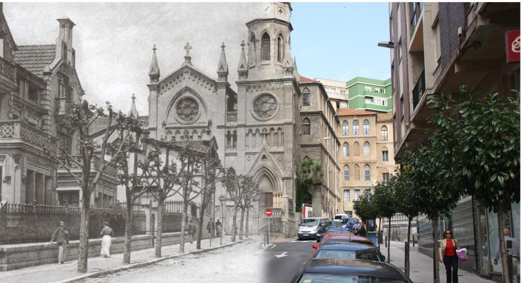 Iglesia de los carmelitas. Ca. 1925/2012. La librería General, CDIS.