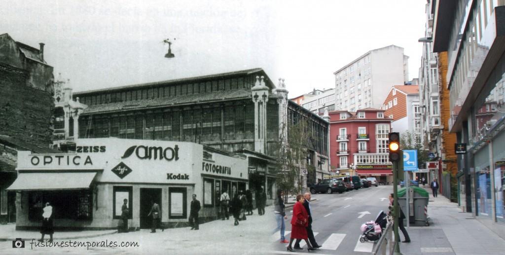 Barracón temporal de SAMOT junto al Mercado de la Esparaza. Ca.1945-2012. CDIS.
