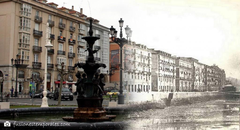 Paseo de Pereda/Muelle de Calderón. 1881/2012. Colección Víctor del Campo Cruz. CDIS.