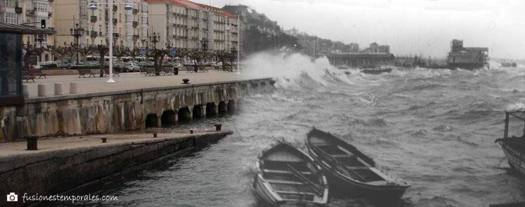 Temporal de Sur en la bahía. Ca. 1935/2012. Víctor del Campo Cruz, CDIS.