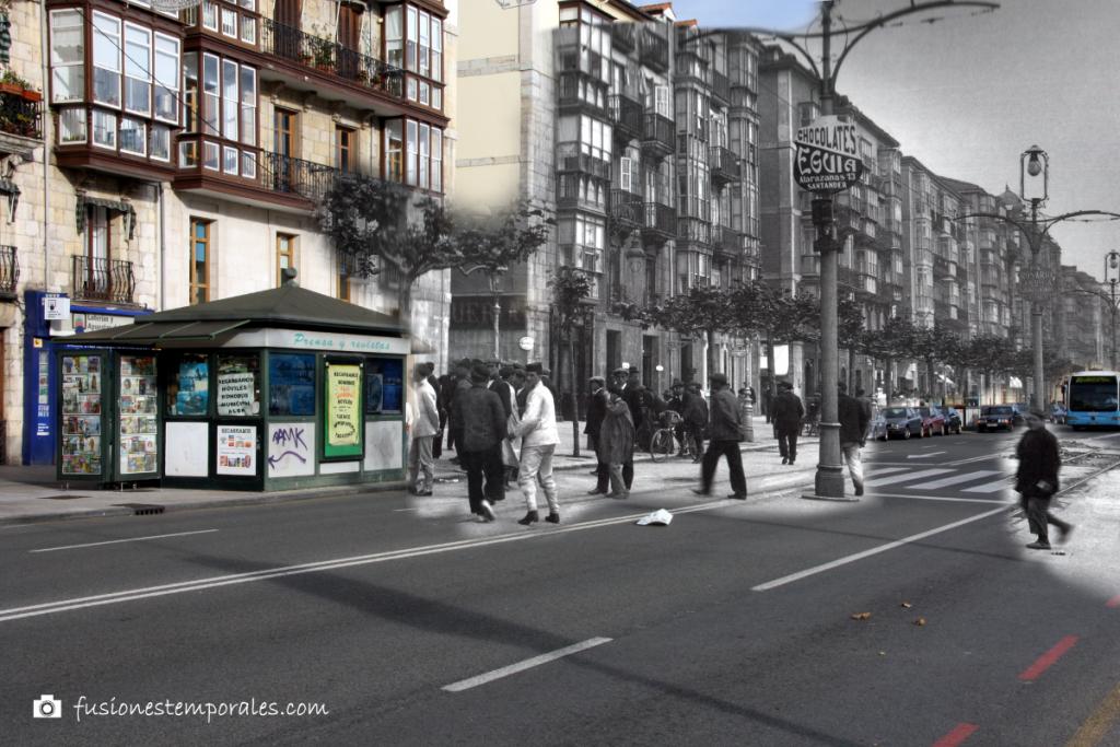 Paseo de Pereda. Ca. 1900/2012.