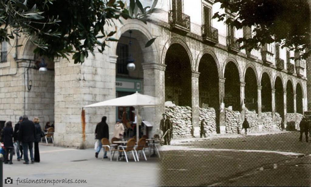 Refugio antiaéreo en la Plaza de Pomnbo. 1936-2010. Pablo Isidro Duomarco ¿? CDIS.